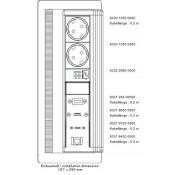EVOline FlipTop Push Tischsteckdose (5Module)
