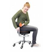 Gesundheitsstuhl mit verfahrbarer Lehne